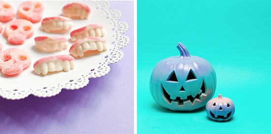 Pastel goth gradient pumpkins and gummy teeth candy 2