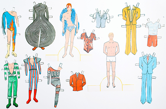 David Bowie Paper Dolls Mel Elliot Ziggy Paperboy Aladdin Sane_19