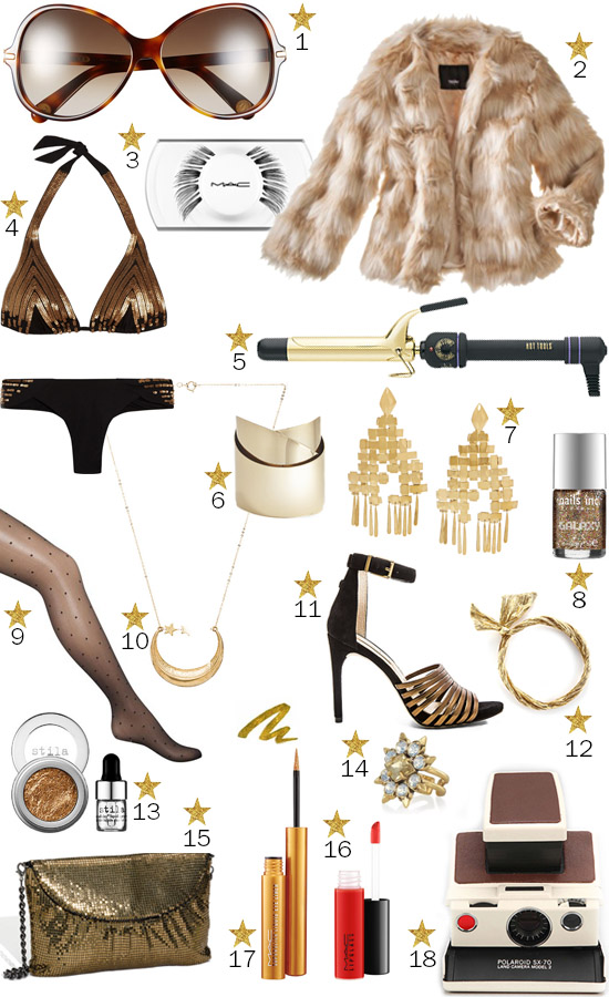 Studio 54 Marc Jacobs party fashion inspiration sequins gold and faux fur
