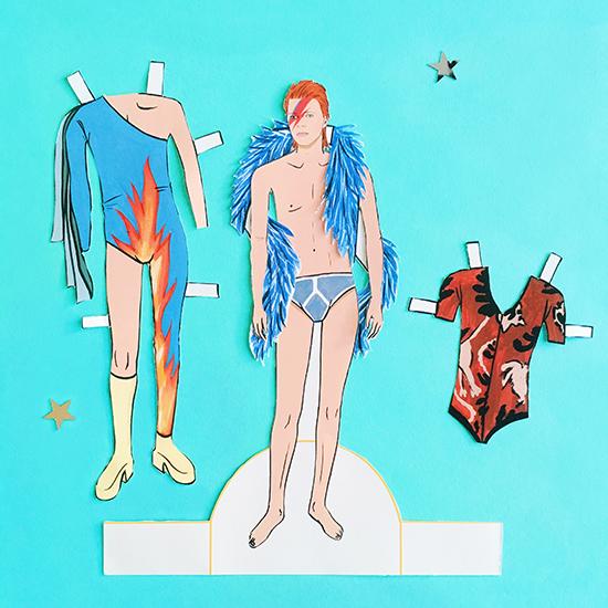 David Bowie Paper Dolls Mel Elliot Ziggy Paperboy Aladdin Sane_17