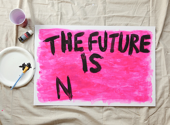 How to make a protest sign womens march