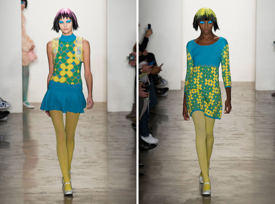 Jeremy Scott Fall 2015 Ready-to-Wear Dolly Pattern psychedelic runway