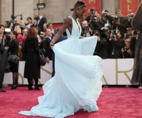 Lupita Nyong'o Oscar gown Prada