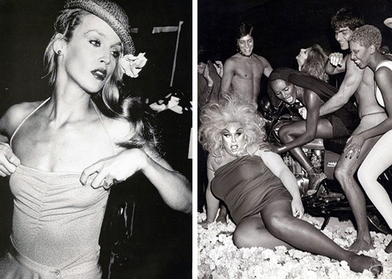 Jerry Hall and Divine Studio 54 fashion