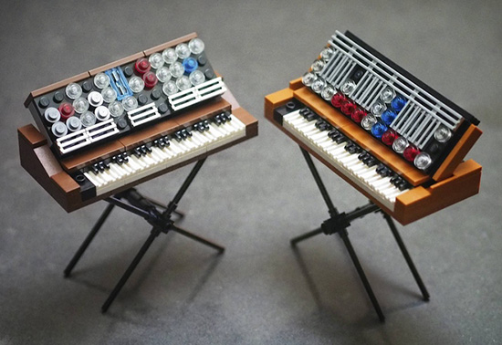 LEGO Mini moog Synthesizers