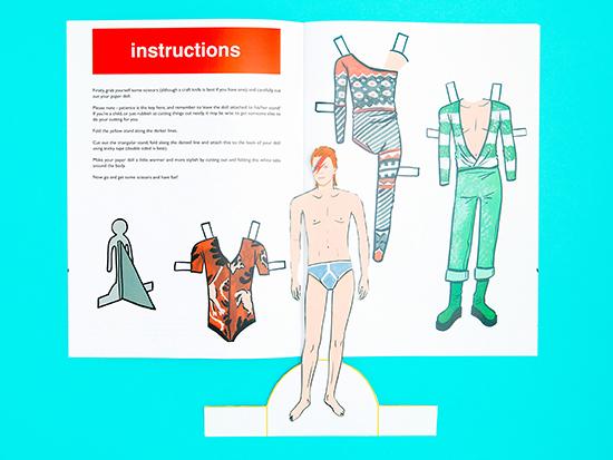 David Bowie Paper Dolls Mel Elliot Ziggy Paperboy Aladdin Sane_21
