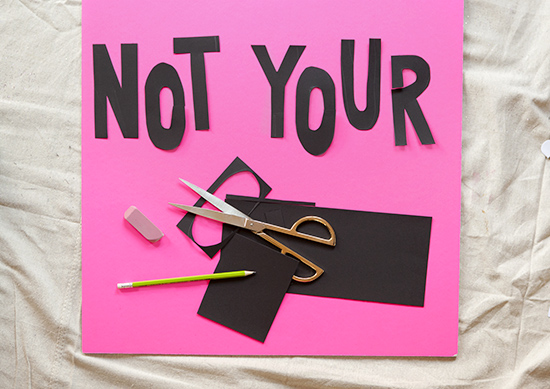 How to make a protest sign lettering