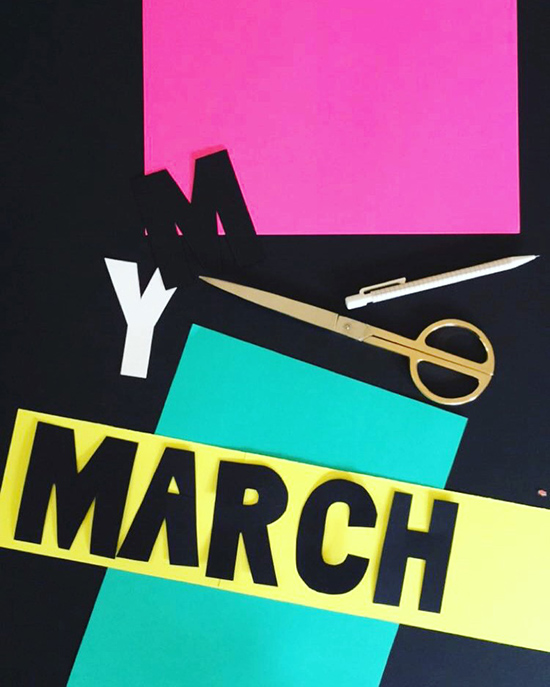Protest sign making womens march