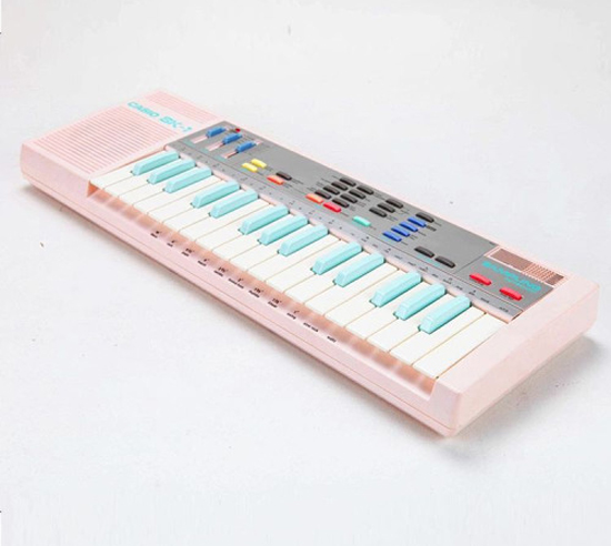Casio pastel keyboard SK-1 ultra rare pink with light blue keys 1985